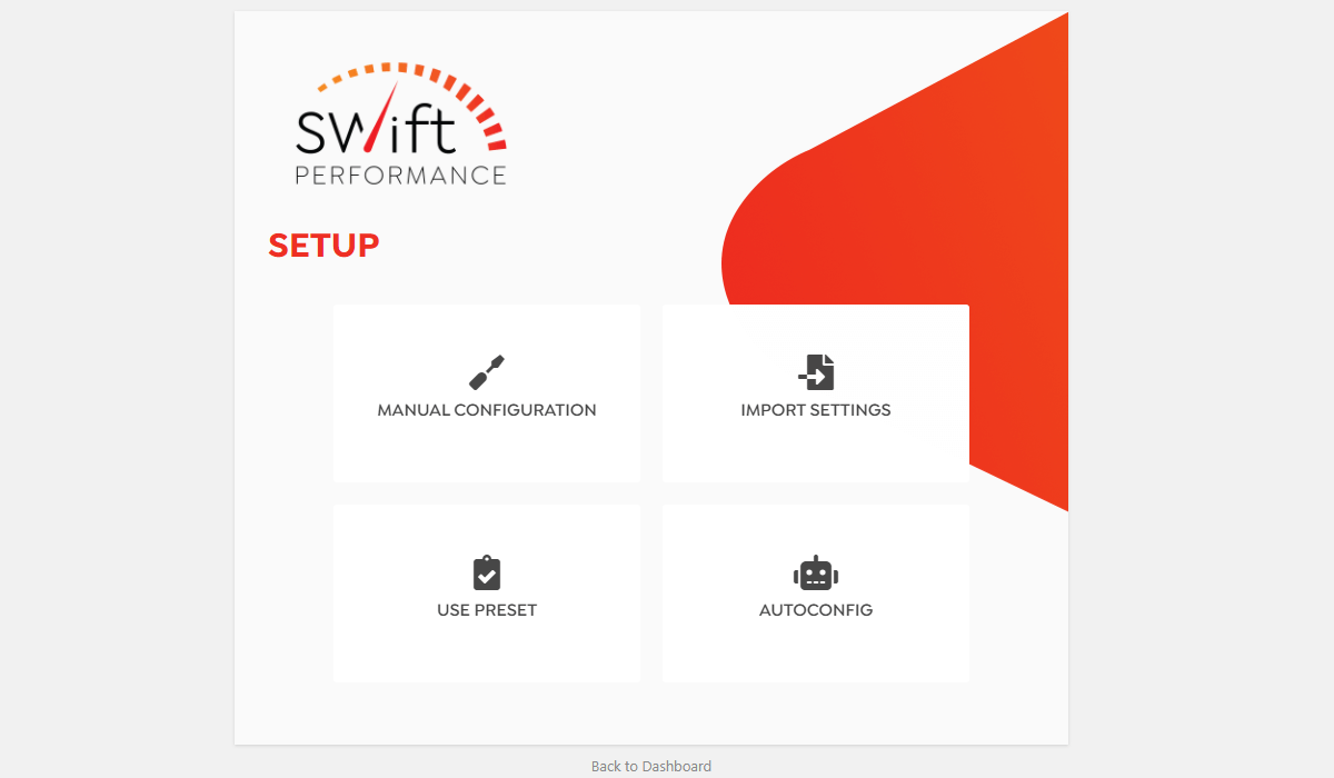 WordPress Swift Performance Plugin Configuration Options
